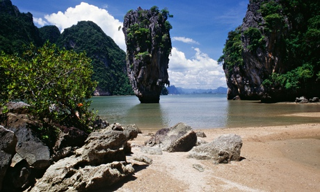 Beach at Phang Nga Bay on Andaman coast, Thailand