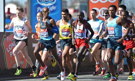 Mo Farah in 2013 London Marathon