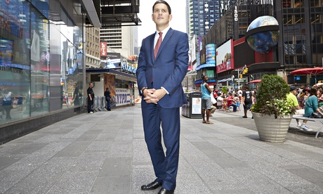 David Miliband in Times Square