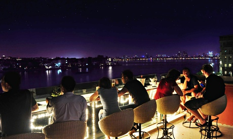 The rooftop oyster bar at Don's, Hay To, Hanoi