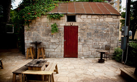 Bar Ilegal, Austin, Texas. Set within the grounds of Clive Bar, ...
