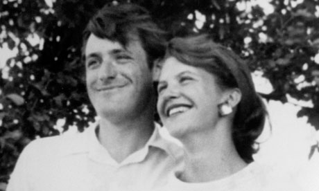 Poet Ted Hughes and first wife Sylvia Plath