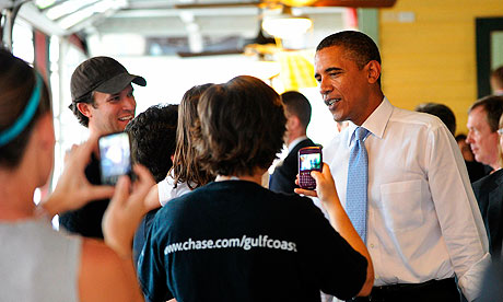Barack Obama in new orleans
