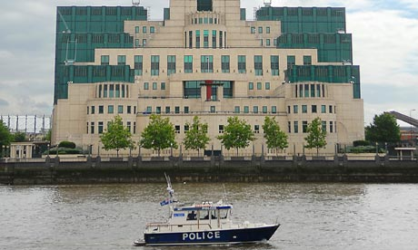 The headquarters of MI6 on the banks of the Thames in London