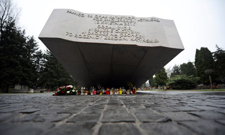Memorial to victims of plane crash in Smolensk