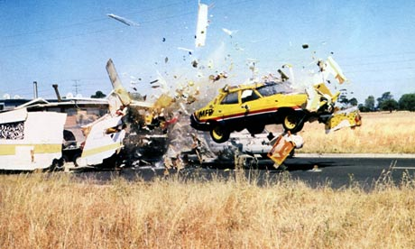 car crash featured in the film Mad Max