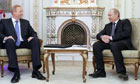 Russian Prime Minister Vladimir Putin with BP chief executive Bob Dudley