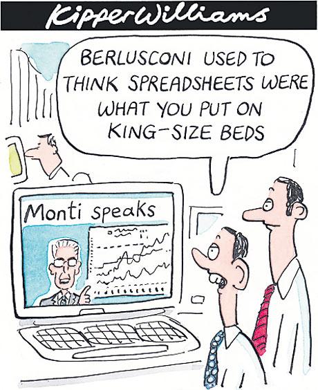 Mario Monti Kipper Williams cartoon