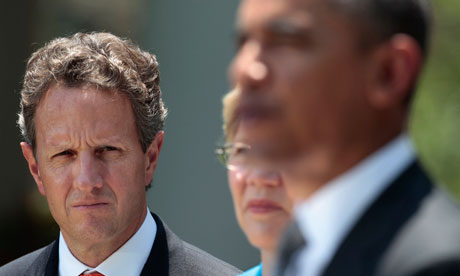us debt crisis, Barack Obama, Timothy Geithner