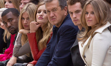 Stars attend a Burberry fashion show