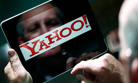 Yahoo logo on iPad