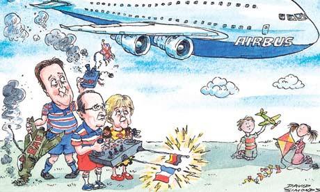 David Simonds cartoon on EADS/BAE Systems merger fails