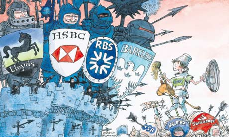 Dave Simonds cartoon Co-op bid for LLoyds branches
