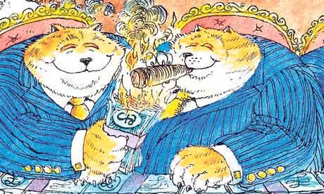 Dave Simonds cartoon on executive pay and shareholders