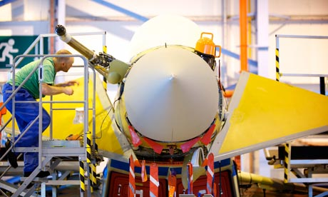 Typhoon fighter being built at BAE Systems Warton Lancs