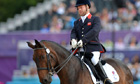 Great Britain's Lee Pearson competes in dressage