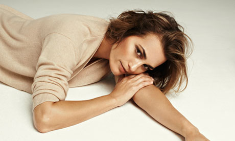 Yasmin Le Bon models clothes for Winser London