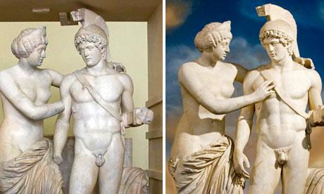 Berlusconi hizo restaurar la chota de una estatua romana que