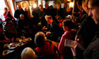 David Cameron meets residents of Pentewan at The Ship Inn
