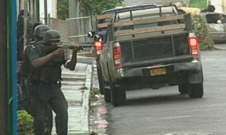 Riot police West Kingston, Jamaica