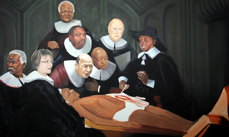 Anger over Nelson Mandela autopsy painting | World news | The Guardian