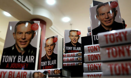 The memoirs of former British Prime Minister Tony Blair, entitled 'A Journey'