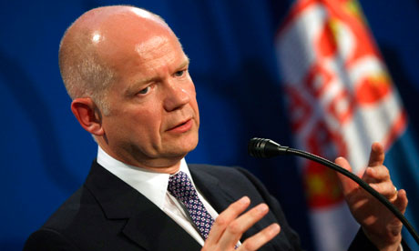 British Foreign Secretary William Hague visits Serbia