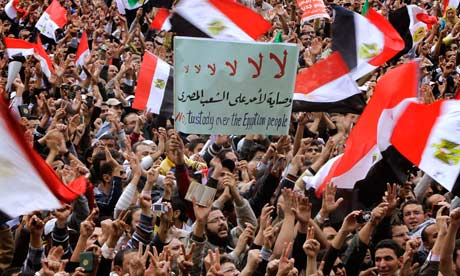 Egyptians rally in Tahrir square, Cairo