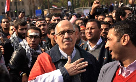 Mohamed El-Baradei in Tahrir Square