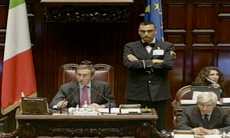 The lower house of the Italian parlaiment debate their public finances