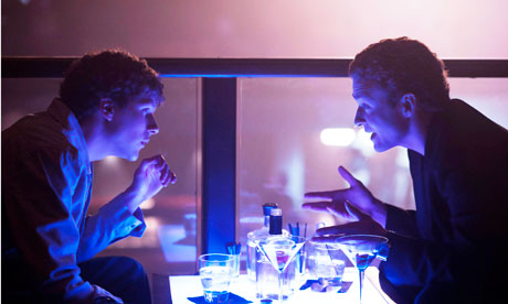 Still from The Social Network in which Mark Zuckerberg is portrayed