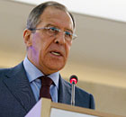 Russian Foreign Minister Sergei Lavrov addresses UN Human Rights Council
