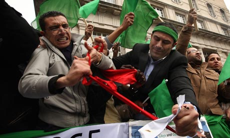 Pro-Gadaffi supporters in London