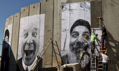 Images from the Face to Face project by JR on Israel's separation barrier