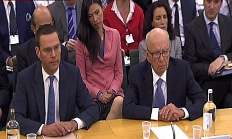 James Murdoch and Rupert Murdoch give evidence to the dcms committee