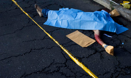 A murder victim in Guatemala City