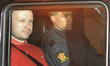 Anders Behring Breivik leaves the courthouse in Oslo