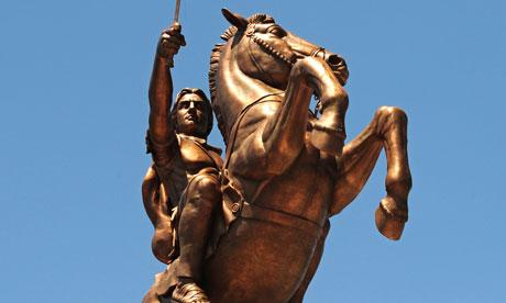 Alexander the Great statue in Skopje, Macedonia