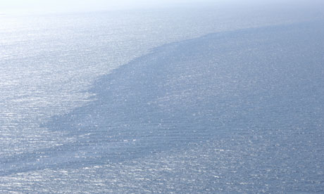 Shell oil spill in North Sea