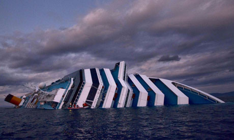 Costa Concordia cruise ship runs aground off the coast of Italy - 15 Jan 2012