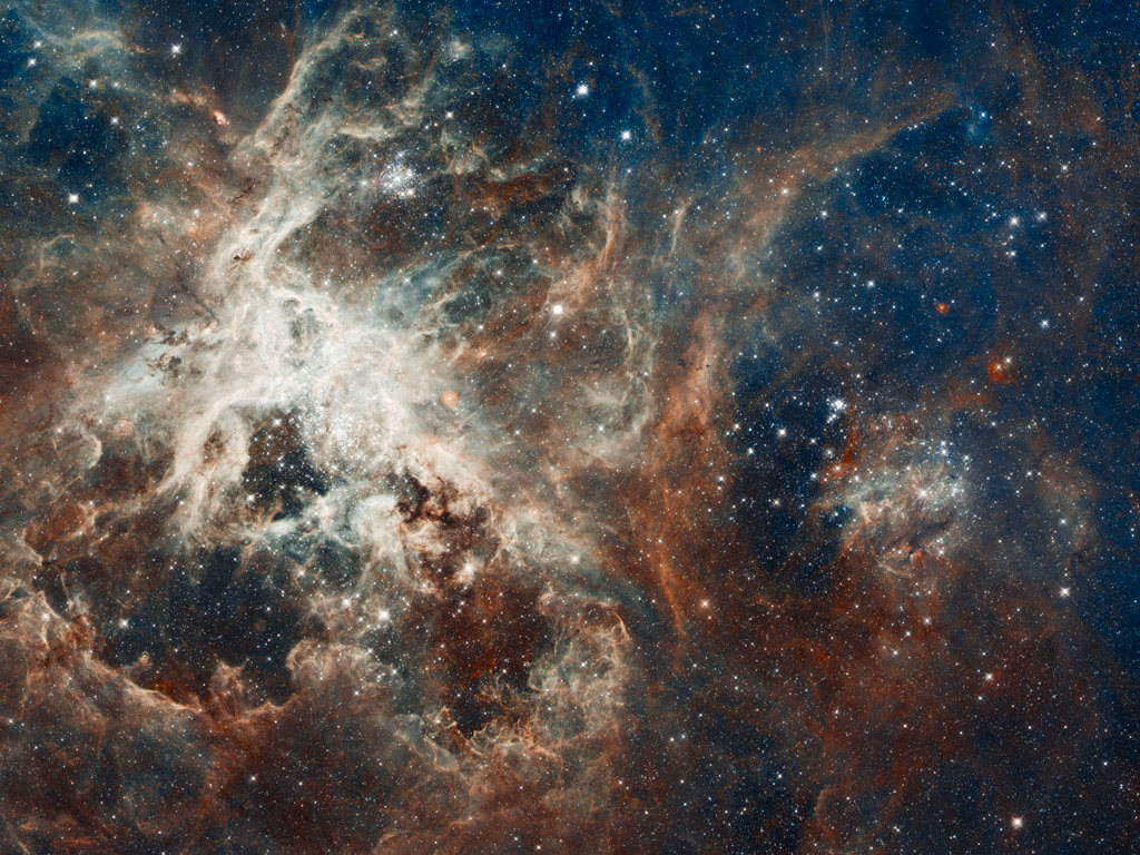 30 Doradus in the Large Magellanic Cloud, which is part of the Tarantula nebula