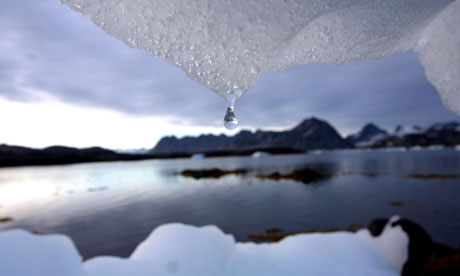 An iceberg melts iion Kulusuk, Greenland