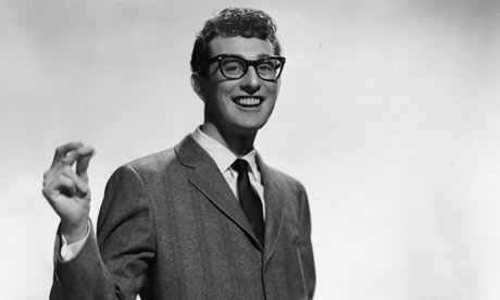 Buddy Holly snapping his fingers circa 1955