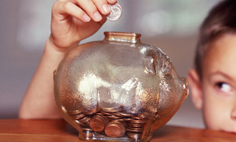 child with piggy bank 001
