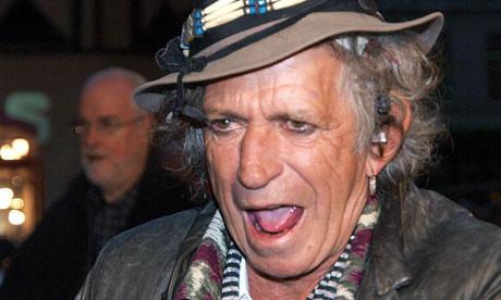 Keith Richards of the Rolling Stones ges