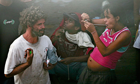 Brazil has a burgeoning drug problem, as police fight gangs who control supply to the addicts
