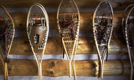 Snow Shoes Like Tennis Rackets