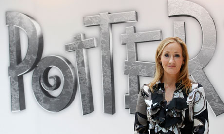 JK Rowling at the launch of the Pottermore website