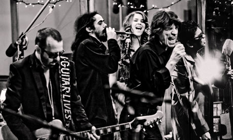 Dave Stewart, Damian Marley, Joss Stone, Mick Jagger and AR Rahman of superheavy