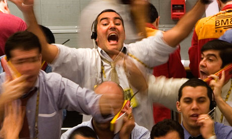 traders on trading floor in sao paulo, brazil